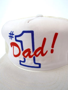 Vintage 80s Number One Dad Snapback
