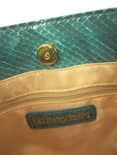 Load image into Gallery viewer, Vintage 80s Green Snakeskin Evening Purse