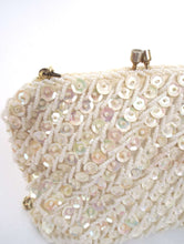 Load image into Gallery viewer, Vintage 80s White Beaded Shoulder Bag