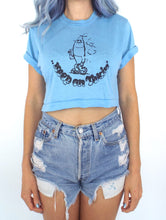 Load image into Gallery viewer, Vintage 80s Keep On Tokin' Cropped Tee Weed Funny Small Crop Top