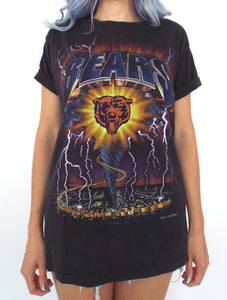 Vintage 90s Chicago Bears Lightning Tee
