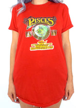Load image into Gallery viewer, Vintage 70s Funny Red Pisces Zodiac Sign Tee