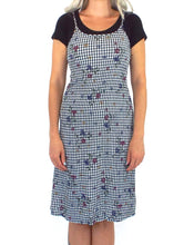 Load image into Gallery viewer, Vintage 90s Gingham and Floral Print Tank Dress