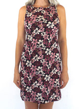 Load image into Gallery viewer, Vintage 90s Pink and Purple Floral Print Mini Dress Size Small