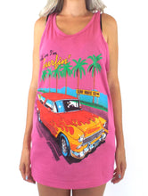 Load image into Gallery viewer, Vintage Tell 'Em I'm Surfin' Pink Tank Top