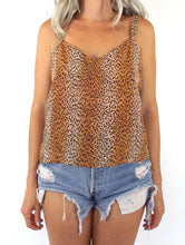 Load image into Gallery viewer, Vintage 90s Silk Leopard Print Tank