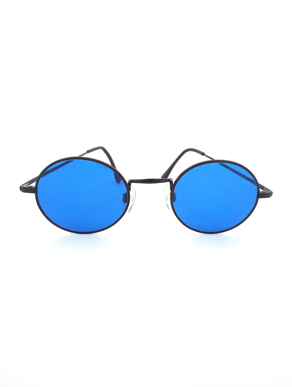 Vintage 90s Round Blue Tinted Sunglasses