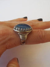 Load image into Gallery viewer, Vintage 70s Silver Plated Oval-Shaped Mood Ring