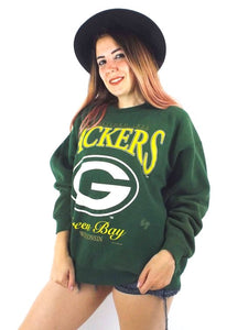 Vintage Faded and Distressed Oversized Green Bay Packers Sweatshirt
