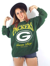 Load image into Gallery viewer, Vintage Faded and Distressed Oversized Green Bay Packers Sweatshirt