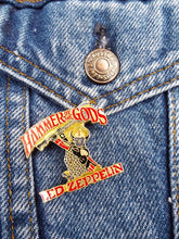Load image into Gallery viewer, Vintage 80s Deadstock Led Zeppelin Hammer Of The Gods Enamel Pin