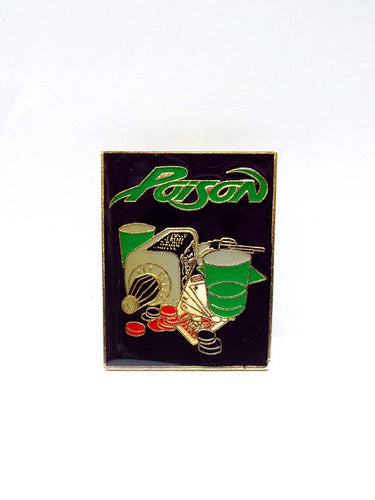 Vintage 80s Deadstock Poison Liquor Bottle Enamel Pin