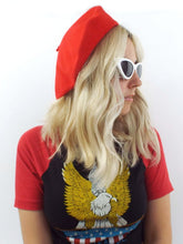 Load image into Gallery viewer, vintage red wool beret