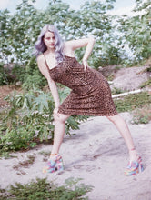 Load image into Gallery viewer, Wild Child Vintage 90s Leopard Print Dress