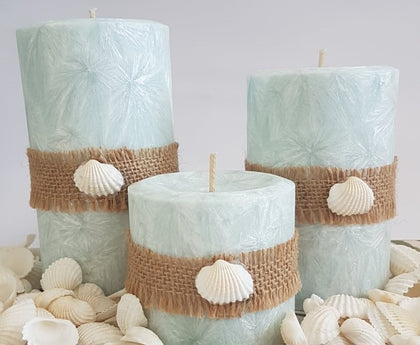 Handmade Palm Wax Pillars