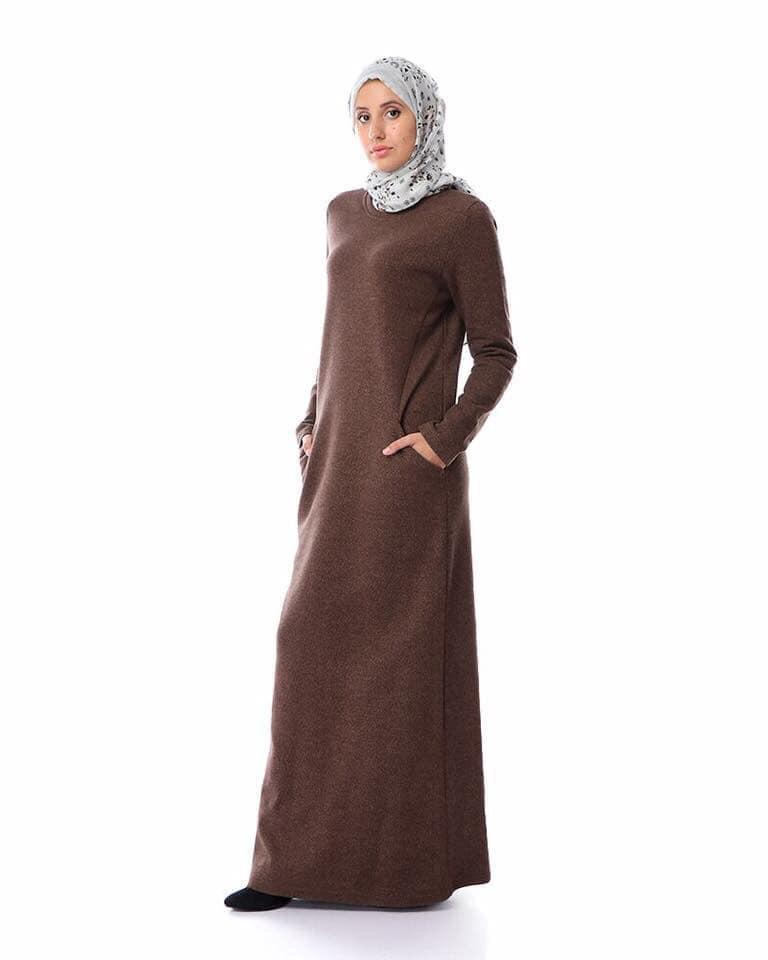 Dina dress - Brown/Grey/Black
