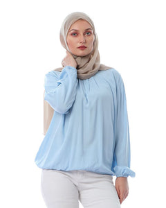 cotton blouse - baby blue