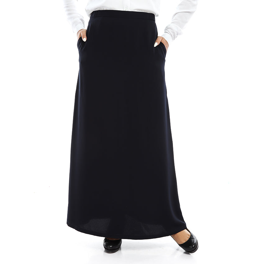 Navy blue Crepe Skirt