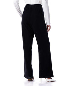 Cashmere pants - black