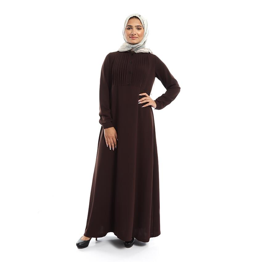 Shorouk Crepe Dress - Brown
