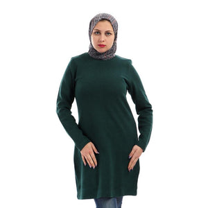 Basic Sweater Dress - Green/Blue