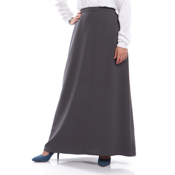 Dark Grey Crepe Skirt