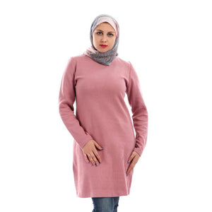 Basic Dress Sweater - Pink