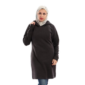 Hoodie Sweater Dress - Dark Grey