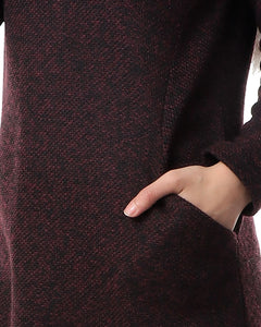 Boucle Wool Tunic - Burgundy