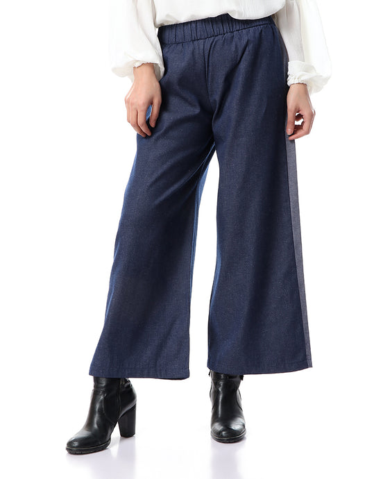 Jeans Pants with side stripes - Dark blue