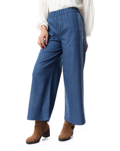 Jeans Pants with side stripes -Light blue