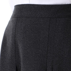Dark Grey Viyella  Pleated Skirt