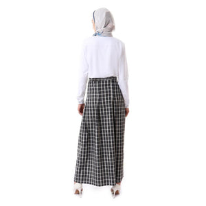 Carreaux Viyella  Pleated Skirt