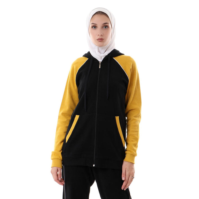 Yellow Hoodie TrackSuit