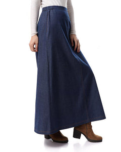 Maxi Jeans Skirt