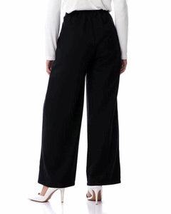 Wide Linen Pants - Black