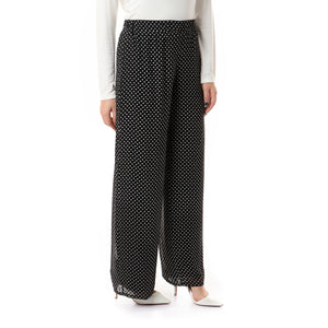 Polka dots Chiffon Pants with linning