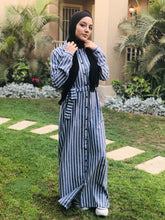 Load image into Gallery viewer, Striped Linen Dress with Belt