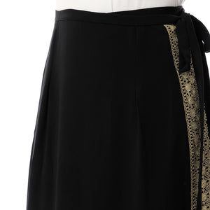 Golden crepe wrap skirt
