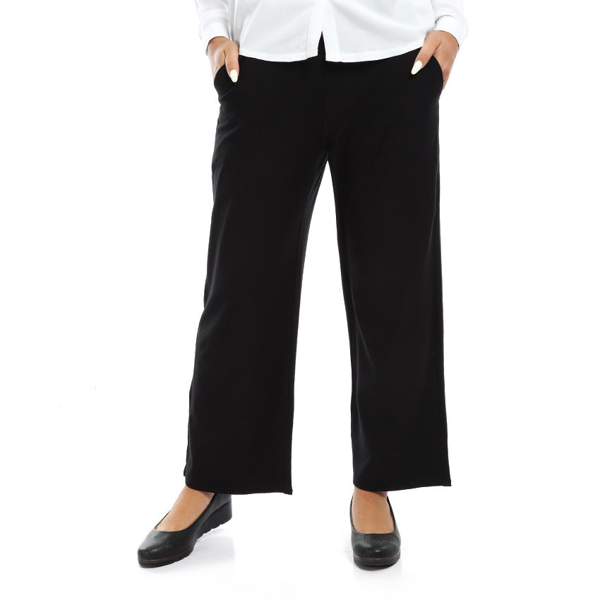 Wide Cotton Lycra Pants