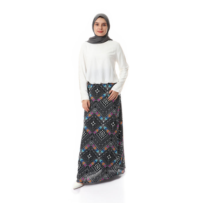 Patterned Chiffon crepe Skirt