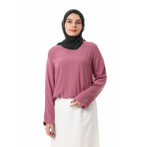 Short crepe blouse