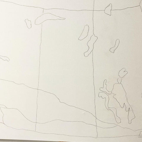 Sketch of Canada map