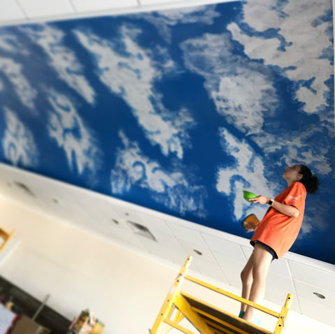 commercial-ceiling-mural