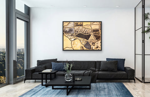 black-and-gold-texas-living-room-art