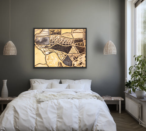 black-and-gold-texas-art-for-bedrooms