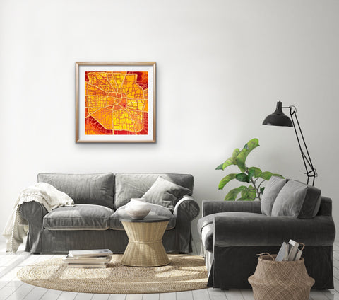 houston-map-art-for-living-room