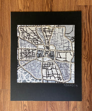 Load image into Gallery viewer, black-and-white-houston-map-art