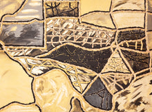 Load image into Gallery viewer, Black & Gold Leaf Texas Original Artwork