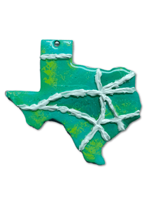 Texas Mini Map Ornaments & Door Hangers